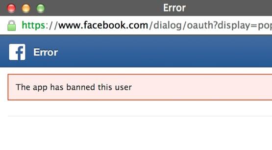 App Banned User