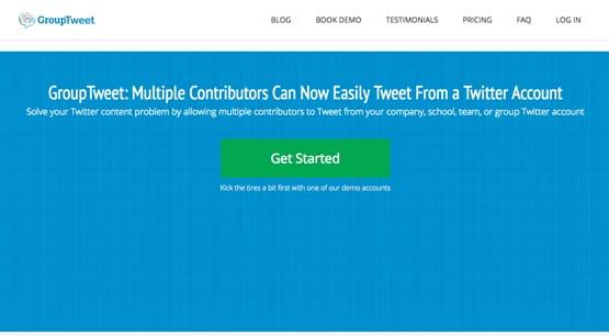 GroupTweet Homepage