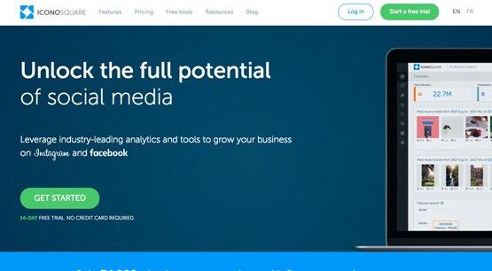 Iconosquare Homepage