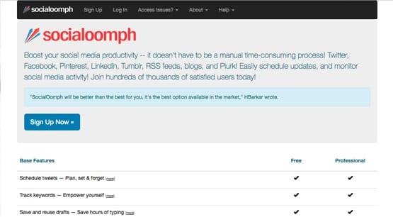 Social Oomph Website