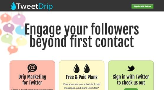 TweetDrip Service