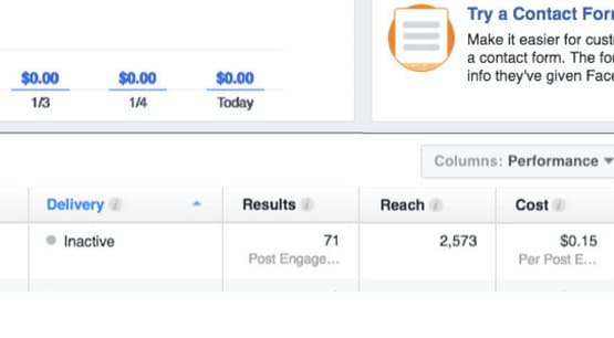 Reach Column on Facebook