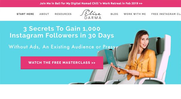 Elise Darma Homepage