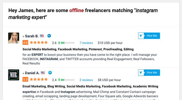 Instagram Marketing Experts on Freelancer