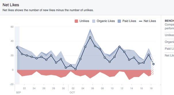 Net Likes Facebook
