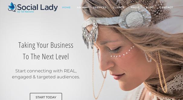 Social Lady Homepage