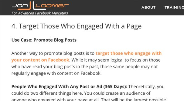 Target Engaged Page
