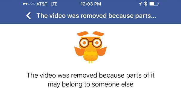 Video Removed Copyright