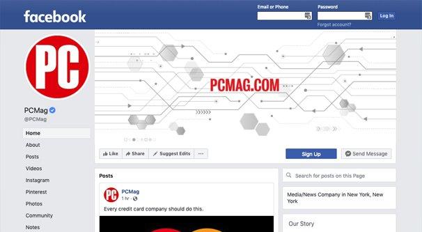 PC Mag Facebook Page