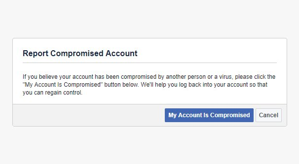 Compromised Facebook Account