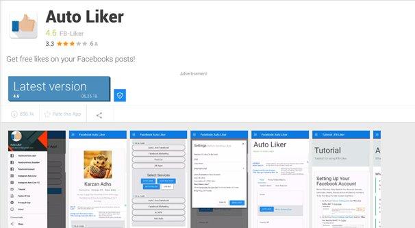 Example Sketchy Facebook App