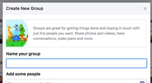 Facebook Creating a Group