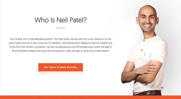 Neil Patel Personal Brand
