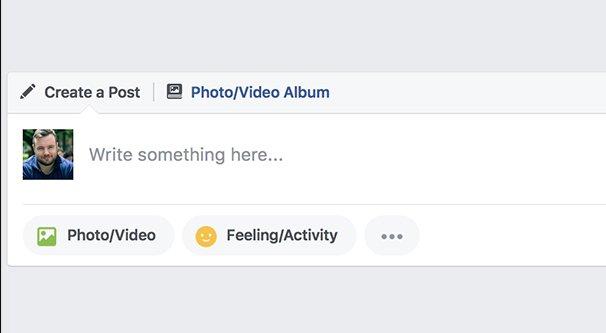 Write a Facebook Post