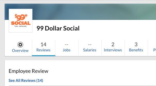 99DollarSocial on Glassdoor