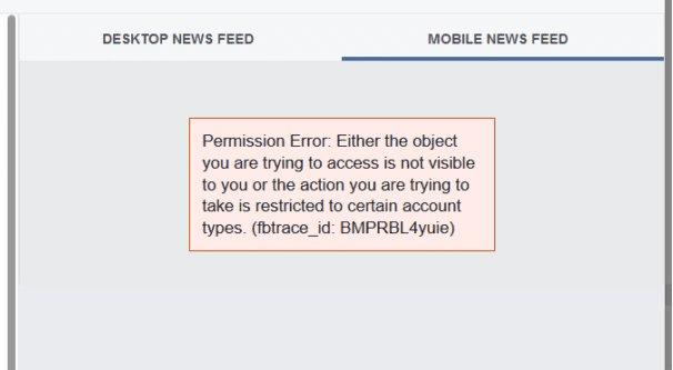 Facebook Bug Example