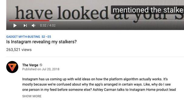 Instagram Revealing Stalkers